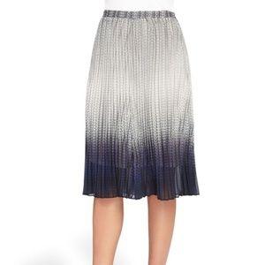 NWT Catherine Maladrino Pleated Ombré Skirt